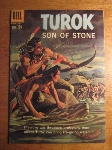 TUROK, SON OF STONE #21 (Dell/Gold Key,1960) (FN+) Painted Cover!
