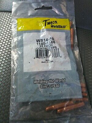 Tweco For Welder Weldskill .030 Mig Contact Tips Pkg25 Ws 14-30