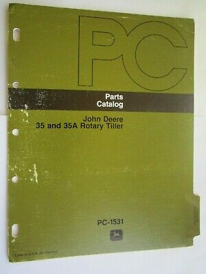 John Deere 400 Lawn Garden Tractor 35 35a Tiller Parts Catalog Manual