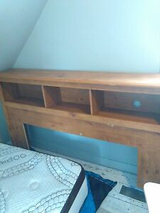 double/queen bookcase headboard