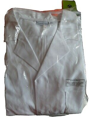 Bowstone laboratory or doctors long white coat triple XL 54 in 124cm