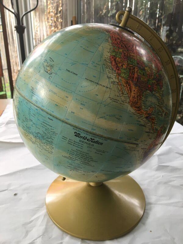 Vintage Replogle World Globe on Stand