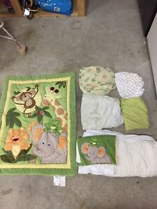 Matching crib bedding set
