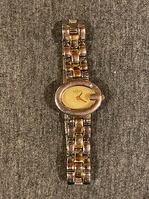 Gucci Ladies G VTG 90s Wrist Watch For Women Silver Band
