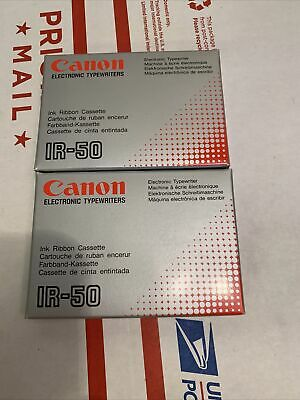 Canon Electronic Typewriter Ink Ribbon Cassette Ir-50 Pack Of 2