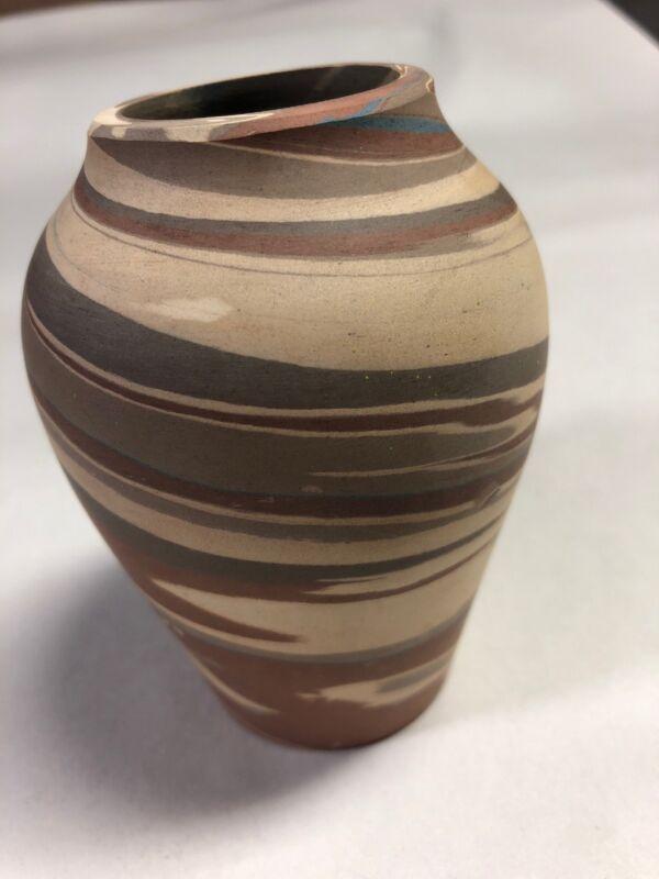 {I-7} Niloak Missionware c.1910 First Mark Pottery Vase