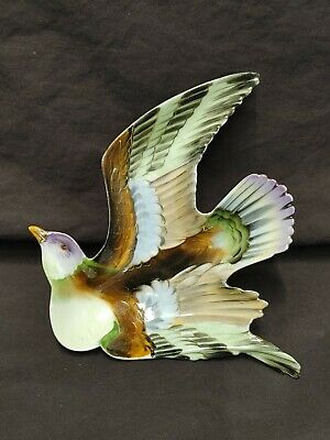 Vintage Shafford Porcelain Bird In Flight Wall Plaque