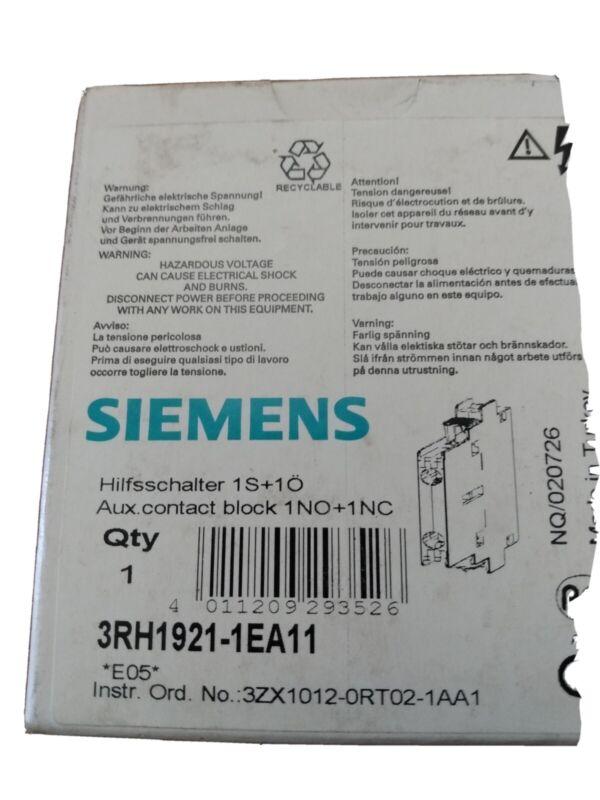 1 pcs Siemens contactors   3RH1921-1EA11  new  in  box old new stock
