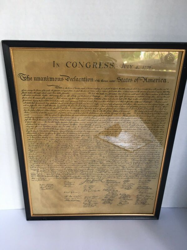The Unanimous Declaration Of The Thirteen United States Of America Reproduction