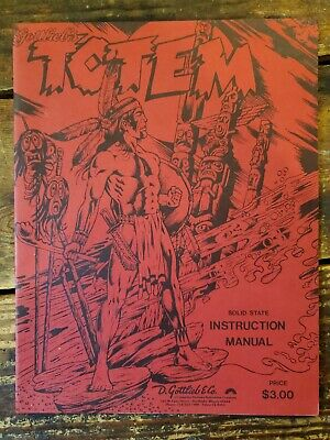 Gottlieb's Totem Pinball Machine Instruction Manual