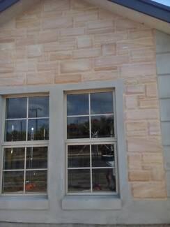 Pavers: Sandstone honed Sandblasted Chipped Ashlar Wall cladding