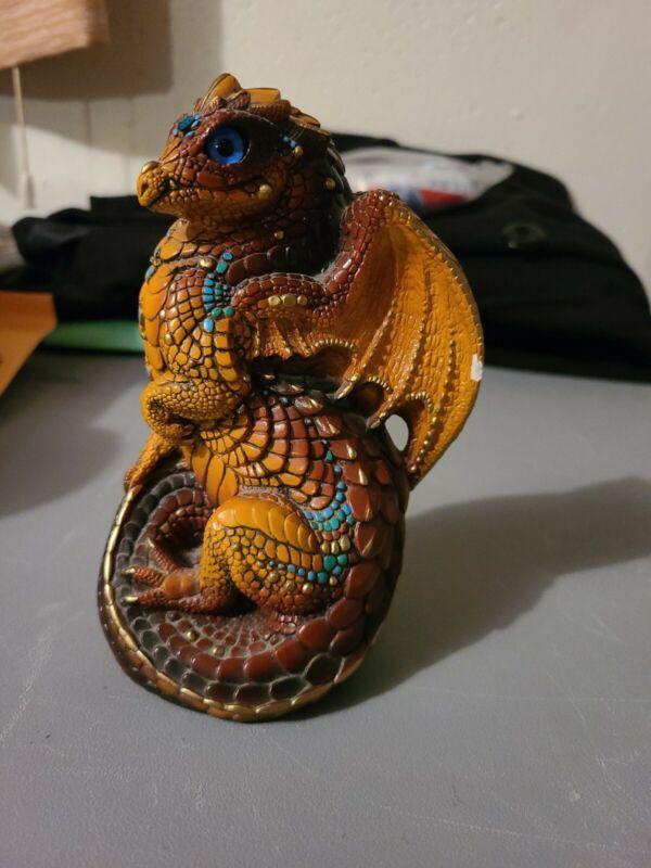 Retired 1988 Windstone Editions M. Pena Young Dragon Sculpture Figurine