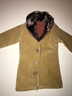 Vintage Tan Faux Fur Ken Barbie Doll Coat
