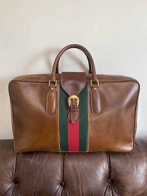Gucci Vintage leather Luggage Suitcase Travel Weekend Bag
