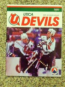 1991-92 Utica Devils (AHL) [New JerseyDevils] Update players cover team program