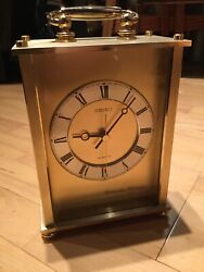 SEIKO Quartz Clock WESTMINSTER-WHITTINGTON Mantle carriage Made In Japan QF142G