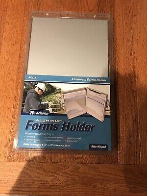 Adams Aluminum Storage Clipboard Portable Form Holder Metal Clip Board Free Ship