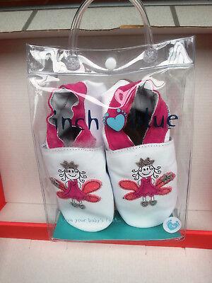 Pink Fairy Schuhe (INCH BLUE KRABBELSCHUHE FAIRY PRINCESS WEISS PINK, GRÖSSE 17 CM, NEU, OVP)