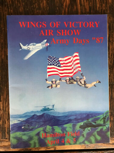 1987 Wings of Victory Air Show Program Hamilton Field, CA