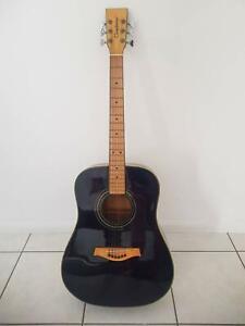 Tanglewood black acoustic guitar