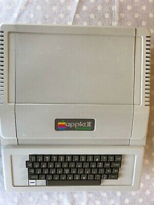 Vintage Apple II EuroPlus, with Disk Drive, Manuals and Software