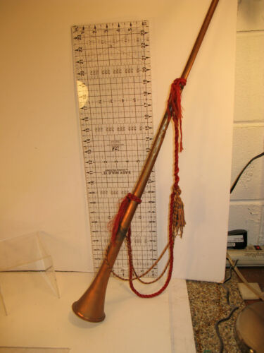 Antique Fox Hunting Horn Original Made in England Vintage Race Derby