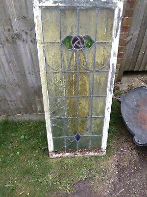 Stained glass lead window in metal frame ideal garden suncatcher or project