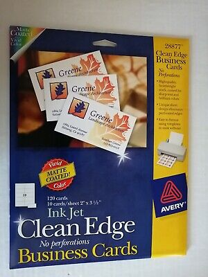 Avery Ink Jet Clean Edge Business Cards 28877 White