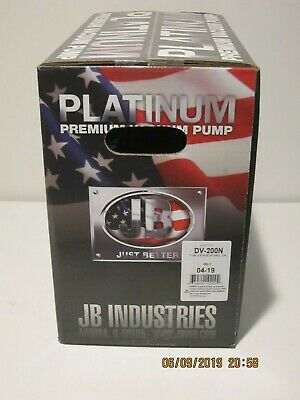 Jb Dv-200n 7cfm Platinum Vacuum Pump Fship Brand New In Sealed Box- 042020