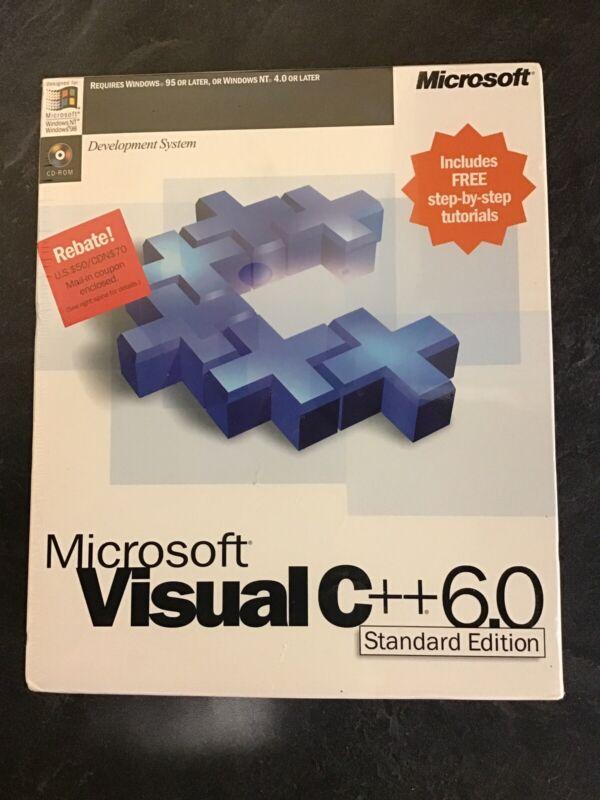 Brand New Factory Sealed Microsoft Visual C++ Standard Edition Version 6.0