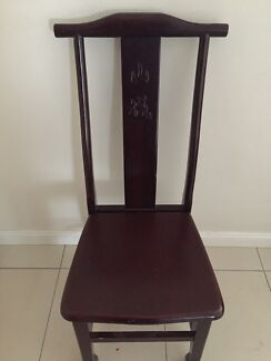 Wooden dining chair Croydon Burwood Area Preview