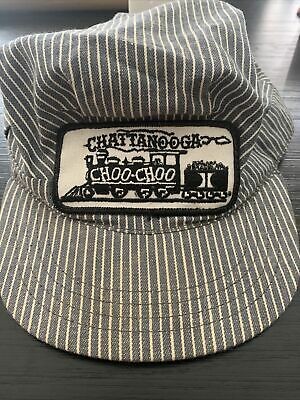 1950s Mens Hats | 50s Vintage Men's Hats VTG CHATTANOOGA CHOO CHOO TRAIN PATCH MEDIUM FITTED HAT / CAP MADE IN USA 1950's $19.99 AT vintagedancer.com