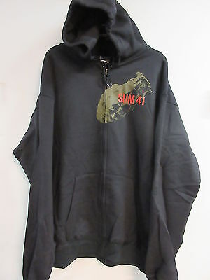 NEW - SUM 41 CONCERT MUSIC BAND ZIP UP HOODIE SWEATSHIRT EXTRA LARGE