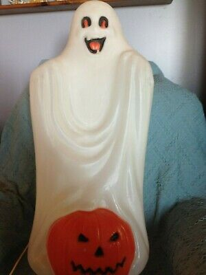 """VINTAGE HALLOWEEN 1991 TPI 33"""" FRIENDLY GHOST BLOW MOLD W/LIGHT CORD"""