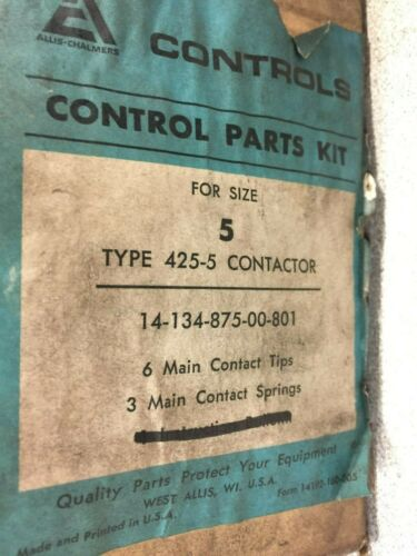 NEW NO BOX ALLIS CHALMERS REPL. TIPS FOR SIZE 5 CONTACTOR 14-134-875-00-801