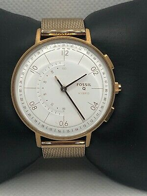 Fossil Q FTW5028 Women Stainless Steel Analog White Dial Hybrid Smart Watch HK54