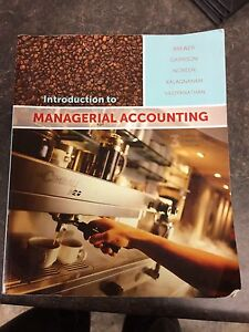 Managerial Accounting Textbook Used