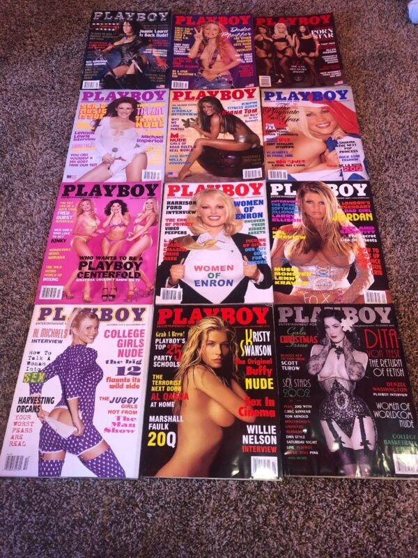 Lot#13 Playboy Magazine Set 2002 12 Issues With Holiday Anniversary Issue