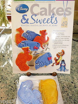 EAGLEMOSS DISNEY CAKES & SWEETS TIGGER AND EEYORE  COOKIE CUTTER  No 49   NEW](Disney Cakes And Sweets)