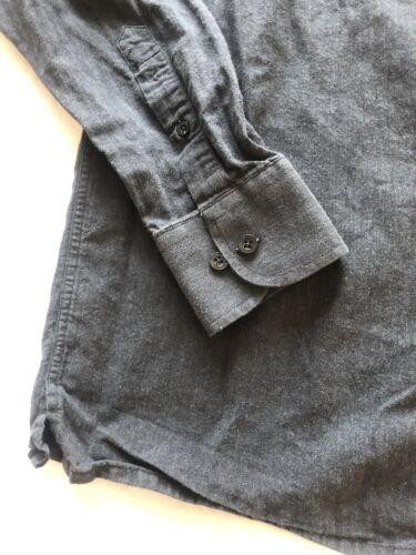 Élégante chemise à manches longues mise au green  taille m gris anthracite