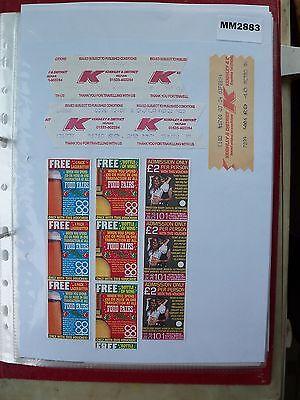 M2883 Keighley. 6 K&D Bus/Tram Ticket/s **