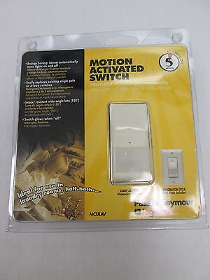 PASS&SEYMOUR MOTION ACTIVATED SWITCH 5 MIN AUTO OFF  MCULAV