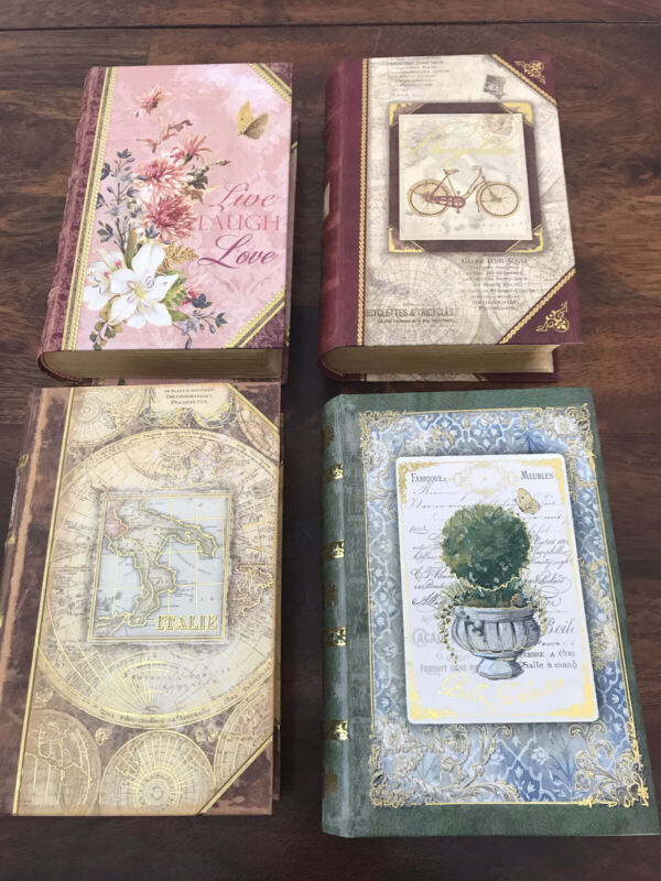 Punch Studio Book Boxes -Set Of 4
