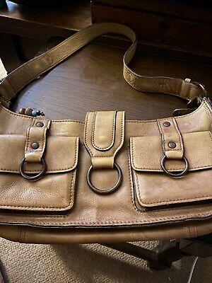 Hidesign Pale Tan Leather Handbag
