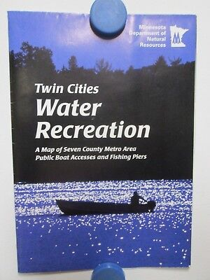 1998 Twin Cities Water Recreation Map Mn 7 County Metro Area Public Boat Access