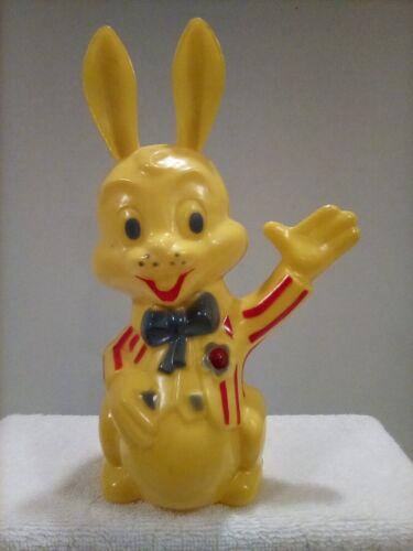 Vintage Easter Hard Plastic Bunny Rabbit Bank