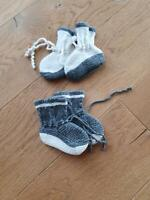 Baby Schuhe, DIY, gestrickt, grau, 4 Monate+ Baden-Württemberg - Dettingen an der Erms Vorschau