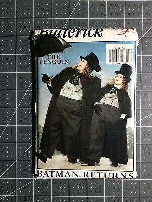 Butterick #6384 ~ Pattern Batman Returns The Penguin ~ Men's XS - L ~ FF / - Plus Size Penguin Costume