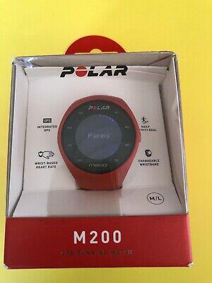 Polar M200 GPS Running Watch Red Wrist-Based Heart Rate + GPS, USED
