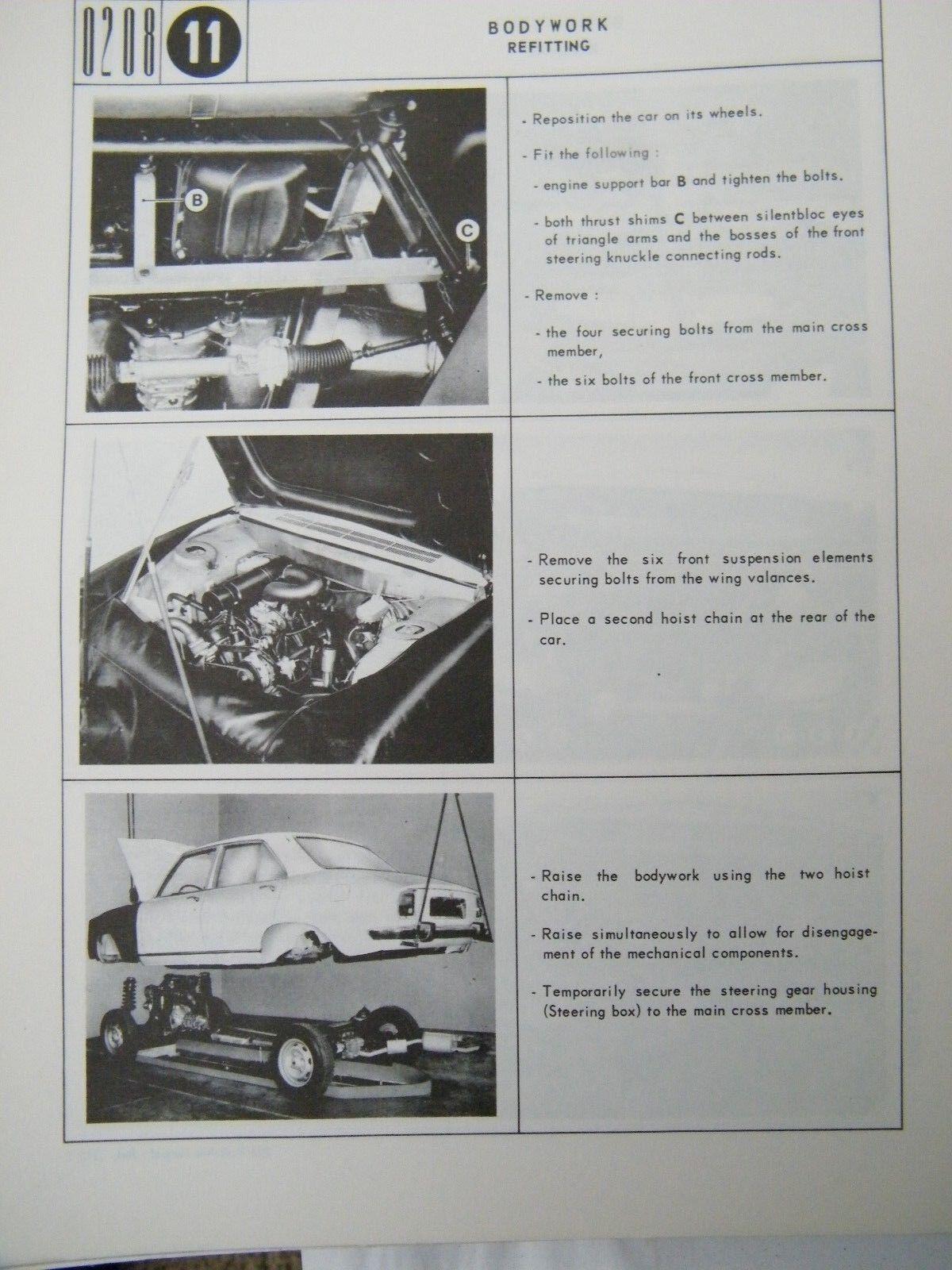 peugeot 504 factory shop service repair manual manuel d atelier rh picclick com Peugeot 604 Peugeot 505